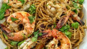 Haitian Rum & Asiago Shrimp Pasta