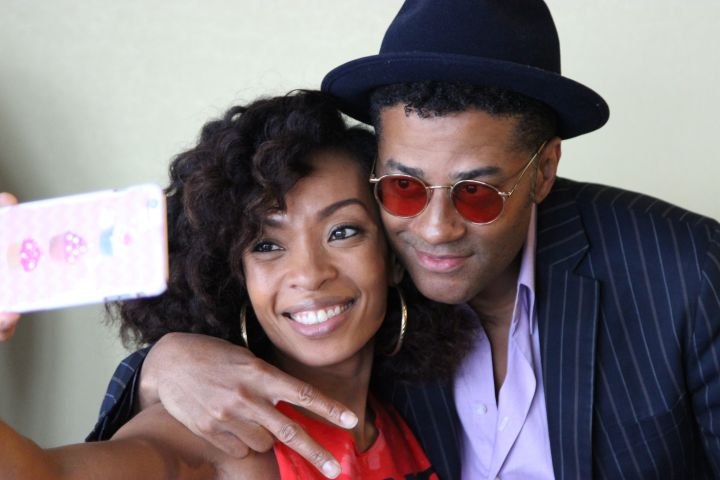 Maria More with Eric Benet