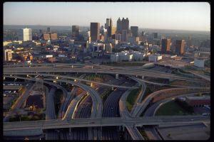 Downtown Atlanta and Freeways