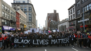 Thousands march through Manhattan to protest police violence